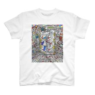 パルモ図工部謎機械秘密基地♪ T-shirts