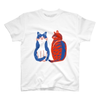 ハチワレさんとキジトラさん T-shirts