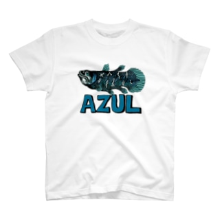 "Dark Blanco ""AZUL"" シーラカンス T-shirts"