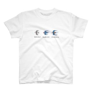 ツバメ3種盛り 学名付き T-Shirt