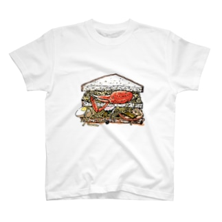 「拉麵カニ雑炊サンド」 T-shirts