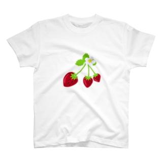 苺三姉妹とお花🍓 T-shirts