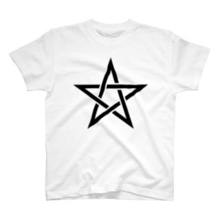 風天工房の五芒星(黒) T-shirts