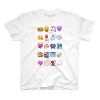 絵文字colorful T-shirts