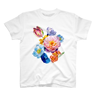 flowers 陰 T-shirts