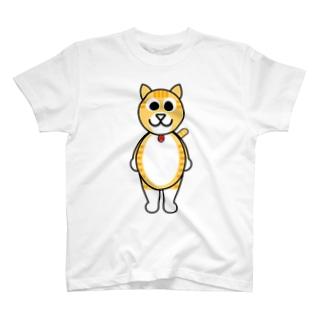 茶白猫のチャッピー T-shirts