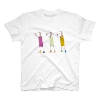 お散歩するムミィさん T-shirts