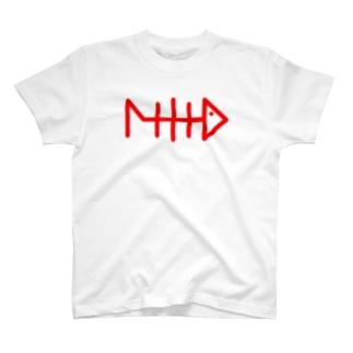 フィッシングボーンTシャツ T-shirts