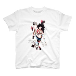 Makiのoldschool tattoo風 女の子★ T-shirts