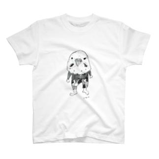 インコ仮面 T-shirts