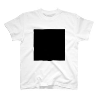 黒の正方形 T-shirts