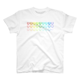 蹄鉄モノグラム(色見本) T-shirts