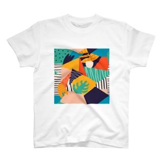 モダンアートな世界B。 T-shirts