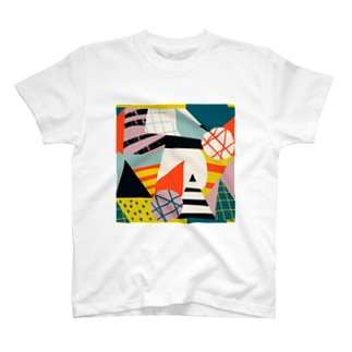 モダンアートな世界A。 T-shirts