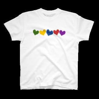 つきしょっぷのカラフルハート T-shirts