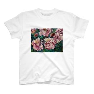 油彩-薔薇- T-shirts