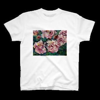 手描きやさんの油彩-薔薇- T-shirts