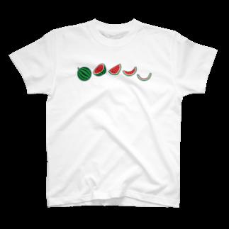 ☀️ひなたぼっくすの🍉スイカの満ち欠け T-shirts
