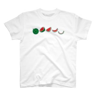 🍉スイカの満ち欠け T-shirts