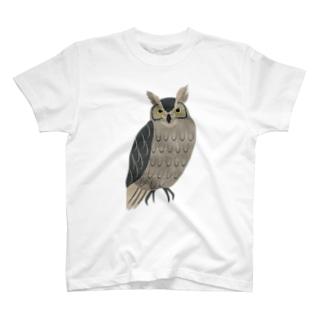 森のフクロウ T-shirts