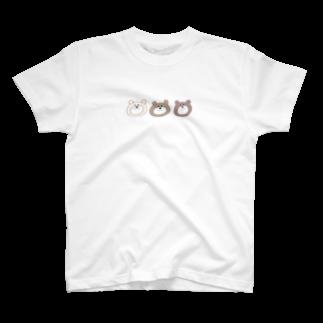 ___monnnのさんびきのくま T-shirts