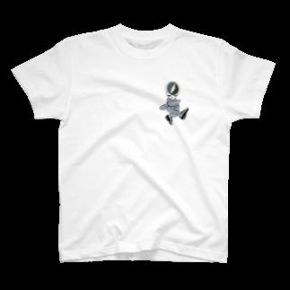 ドクロちゃん的なのドクロ熊ちゃんスニーカーモノクロっぽい的な T-shirts