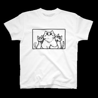 あらだらーのみけねこしまい T-shirts