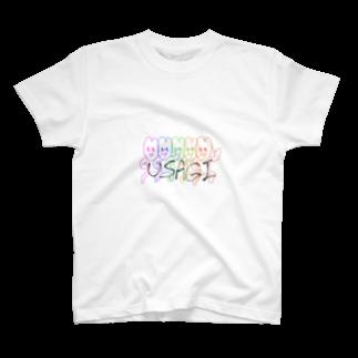 Miya38-21の彼女がウサギ描いた T-shirts
