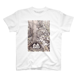 Momojiグッズショップのぽんちょな森 T-shirts
