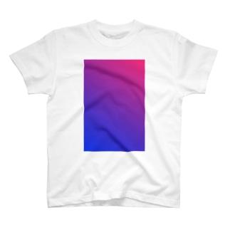 赤と青のグラデーション、縦版。 T-shirts