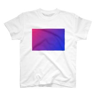 赤と青のグラデーション、横版。 T-shirts