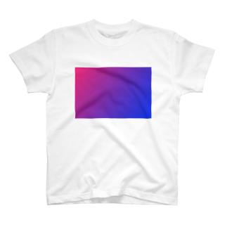 SANKAKU DESIGN STOREの赤と青のグラデーション、横版。 T-shirts
