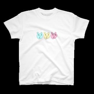 Lollipopの三兄弟(青・黄・赤) T-shirts