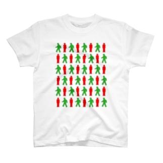 ★歩行者信号機★ T-shirts