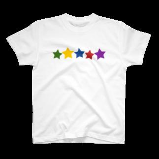 つきしょっぷのカラフル星 T-shirts