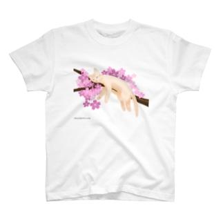 桜ねんね T-shirts