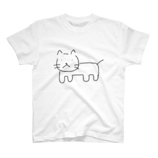 ねこ フルボディ T-shirts