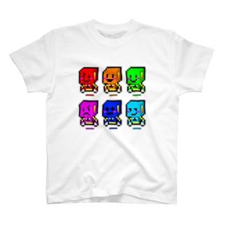 感情の6戦士!(ドット) T-shirts