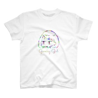 ゲーミング女の子 T-shirts