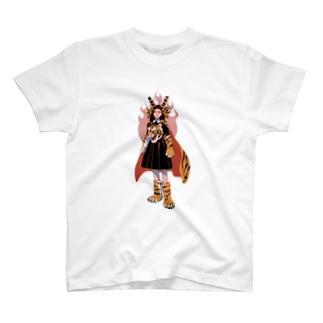 強いぞタイガーウーマン T-shirts