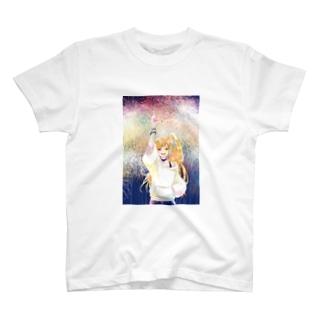 ばーんっ(花火背景ありver) T-shirts