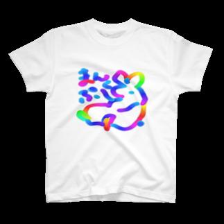 さくらんぼねこのまんぷく T-shirts