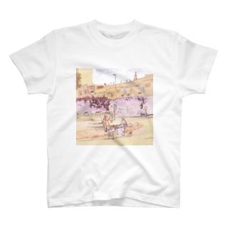 CG絵画:ロバの荷車 CG art: Donkey cargo T-shirts