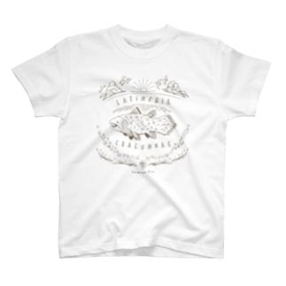 (線/こげ茶)シーラカンス T-shirts