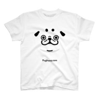 シルエットパグ(URL)淡色用 T-shirts