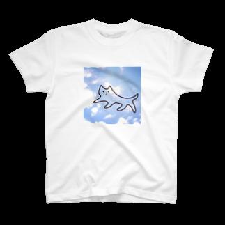 nekotohanaの空を歩くねこ T-shirts