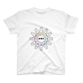 色相環な帯 T-shirts