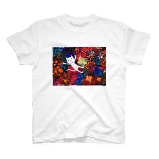art 舞う猫 T-shirts