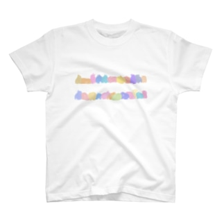 カラフルうさぎロード T-shirts