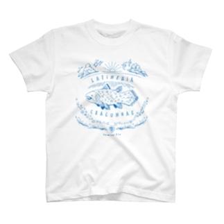 (線/青)シーラカンス  T-shirts